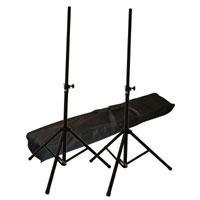 Set Of Two Speaker Stands With Carrying Bag