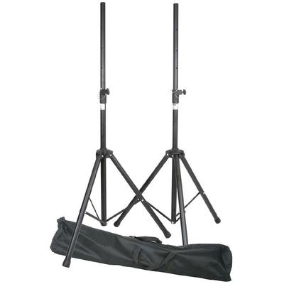 Two Speaker Stands With Transport Bag