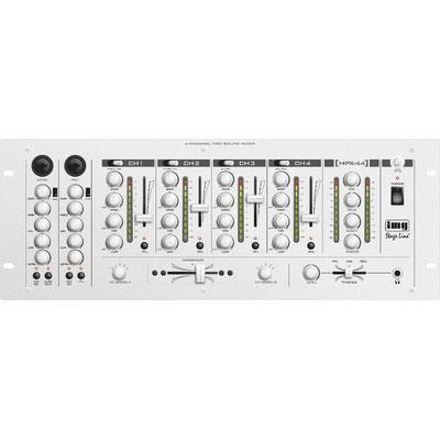 6-Channel Stereo DJ Mixer with Aluminium Front Panel
