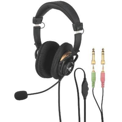 BH-003 Stereo Headphone with Electret Headband Microphone