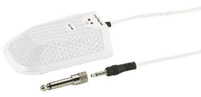 ECM-304BD/WS White Switchable Boundary Microphone