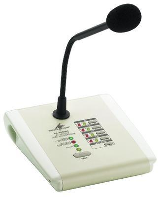 Monacor PA-4000RC PA Zone Paging Microphone for PA-40120