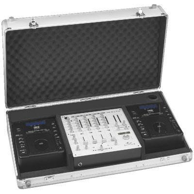 IMG Stageline DJC-40TOP Professional DJ Case for Two Desktop CD Players