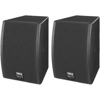 IMG Stageline CLUB-1TOP Passive Disco PA Speakers 100W - Pair