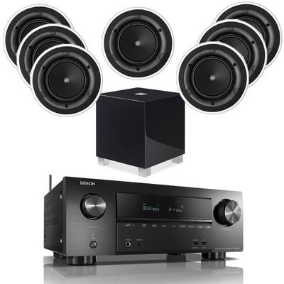 Denon AVR-X2600H With 7 Ci160.2CR And 1 REL T5i Subwoofer