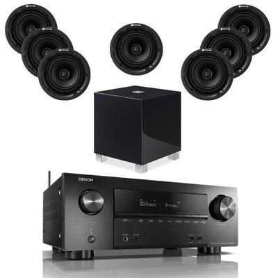 Denon AVR-X2600H With 7 PRO65 And 1 REL T5i Subwoofer