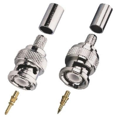 BNC Crimp Plug, 50-75 ohm