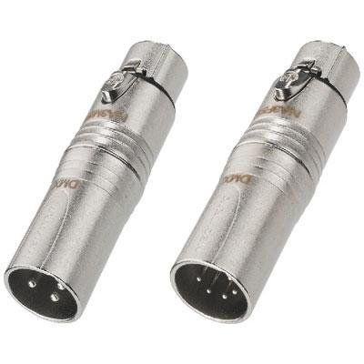 Adapter XLR/XLR suitable for lighting systems with DMX512 interface