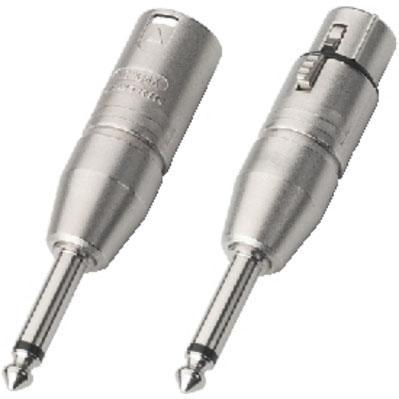 Neutrik Adapter XLR 6.3mm Mono Plug