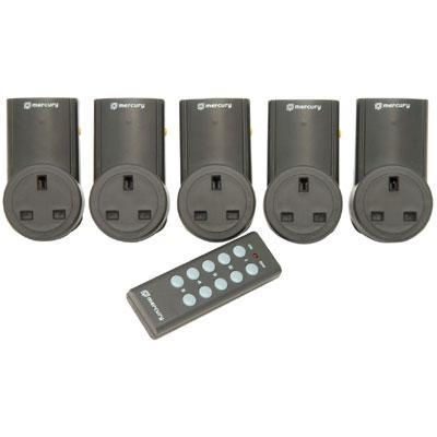 Remote Controlled Mains Sockets Set of 3 or5