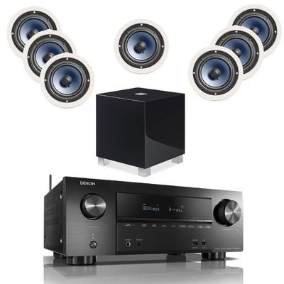 Denon AVR-X3600H With 7 RC60i And 1 REL T7i Subwoofer