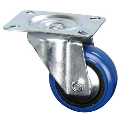 Adam Hall Swivel Castor 80mm With Blue Wheel
