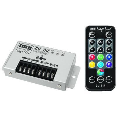 CU-3IR 3-Channel Controller for 12V or 24V LEDs with IR Remote Control
