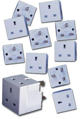 MULTI BUY! 20 x 2 Way UK Mains Adaptors. Only