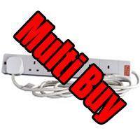 Multi Buy: 10 x 6-Way Surge Protected Mains Extension Lead