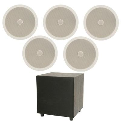 Complete 5.1 Ceiling Speaker Kit with Subwoofer