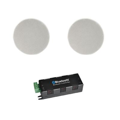 Bluetooth Amplifier 2 x 6.5 Ceiling Speakers Multi Room
