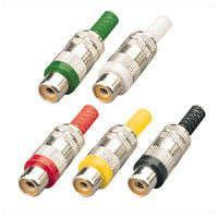 RCA Phono In Line Socket Metal Various Colours