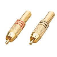 Heavy Duty Gold Plated RCA Plug Various Colours