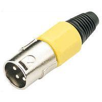 Pair of 3 Pin XLR Plugs In Yellow
