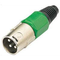 Pair of 3 Pin XLR Plugs In Green