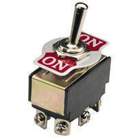 Toggle Switch 2 x On/On With Indicator Plate 250Vac 5A