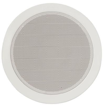 "Metal 6.25"" Quick Fit Ceiling Speakers 100V & 8 Ohm 80W Max"