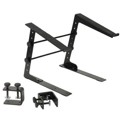Adam Hall Laptop Stand with Clamp Black