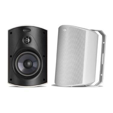 A Pair Polk Atrium 5 Outdoor Speakers In White