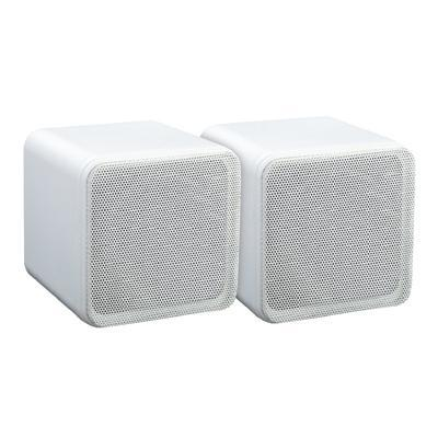 "e-audio White 4"" Full Range Mini Box Speaker (8 Ohms 40W RMS) - Pair"