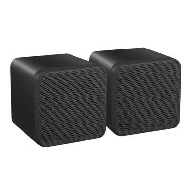 "e-audio Black 4"" Full Range Mini Box Speaker (8 Ohms 40W RMS) - Pair"