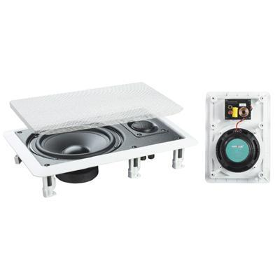 "White 6.5"" 2-Way In-Wall Speakers (8 Ohms 50W RMS) - Pair"