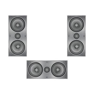 "3 x Dual 6.5"" 2-Way In-Wall Left Right And Centre Speaker"