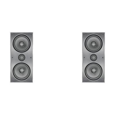 "2 x Dual 6.5"" 2-Way In-Wall Left And Right Speaker"