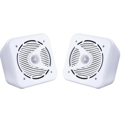 "E-Audio Mini Box Speaker 5.25"" Drivers 80W RMS - White - Pair"