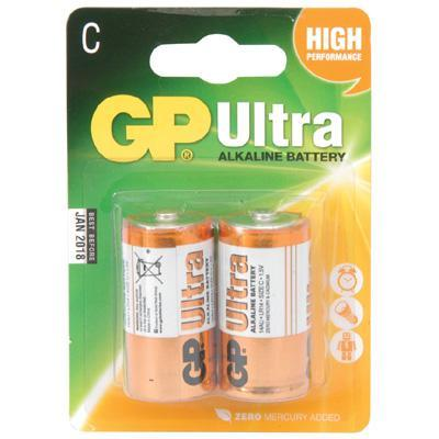 Super Alkaline 2 x C 1.5v Batteries