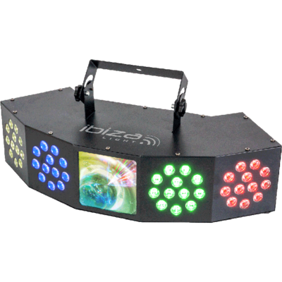Ibiza 3-IN-1 Wash-Moon-Strobe Light Effect With DMX