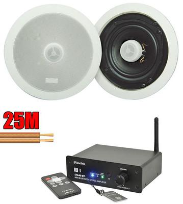 "Pair of 5.25"" with Bluetooth Amplifier and Cable"