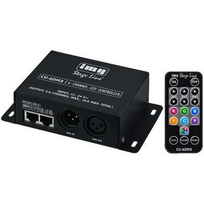 IMG Stageline CU-6DMX 6-Channel RGBW LED DMX Controller with Remote