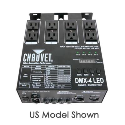 Chauvet® DMX-4 LED 4-Channel Dimmer/Relay Pack