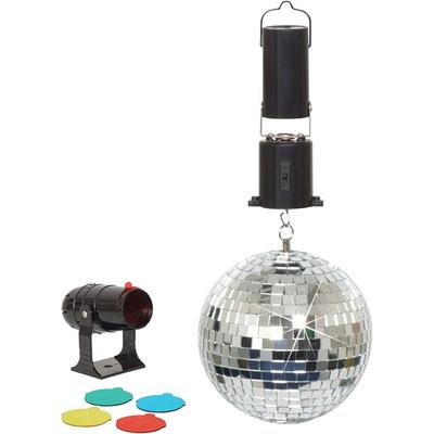 6 Inch Battery Operated Mirror Ball Party Set