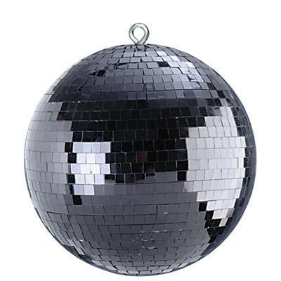 "Black 12"" Lightweight Mirror Ball"