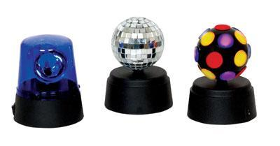 Funki Party Set Containing Mini Disco Baal,Blue Fuzzlight & Mirrorball with Rotator