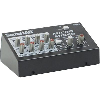 Soundlab 4 Channel Stereo Microphone Mixer