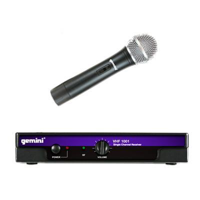 gemini vhf 1001m single channel handheld wireless microphone. Black Bedroom Furniture Sets. Home Design Ideas