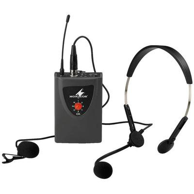 Multifrequency Pocket Transmitter With Tie Clip & Headset Microphone