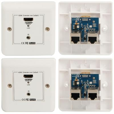 HDMI 1080P Wall Plate Extender with IR over CAT5e/6 - 30M
