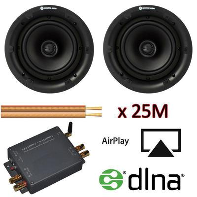 Monitor Audio Ceiling Speakers Airplay DNLA Amplifier With Cable