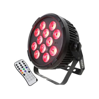 Ibiza RGBAW-UV 12 x 12W LED Par Light DMX and Remote