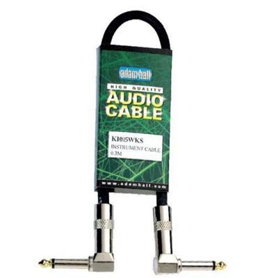 Adam Hall Professional Cable, 0.15m angled-Jack